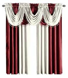 Burgundy And White Curtains Burgundy Amp Ivory Soho Faux Silk Window Treatment Panels Or