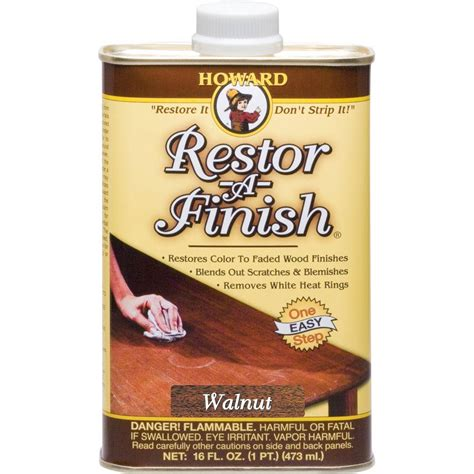 Howard 16 Oz Walnut Wood Finish Restorer Rf4016 The