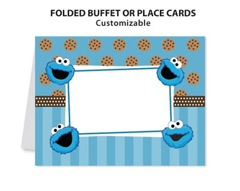 cookie rally card templates cookie sesame printable diy custom place