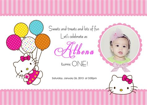 40th birthday ideas hello kitty birthday invitation