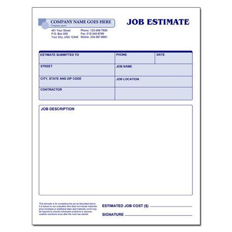 contractor estimate forms business mentor