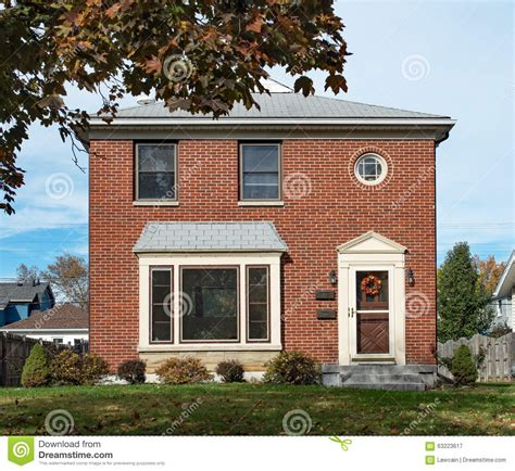 Housing Floor Plans Free empty modest brick duplex house stock image image 63223617