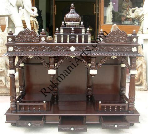 code 33 wooden carved teakwood temple mandir furniture