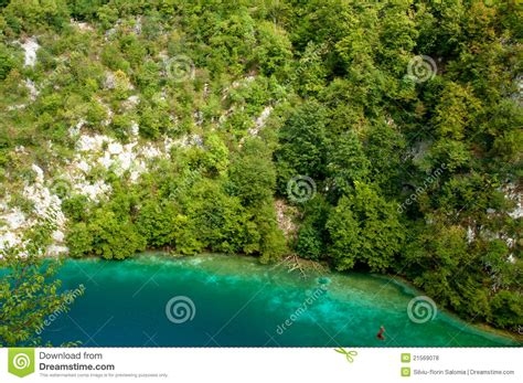 beautiful blue color beautiful blue color in croatian lakes royalty free stock
