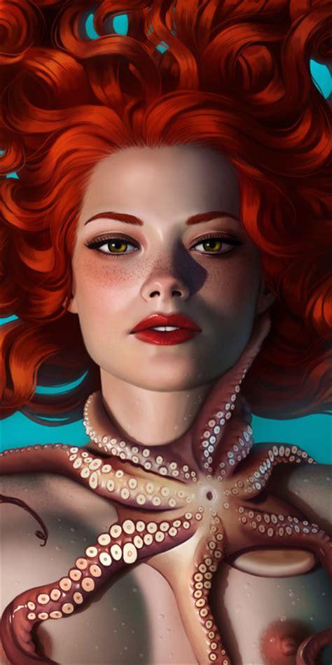by daniela uhlig illustrations beautiful redhead girls ilustrations
