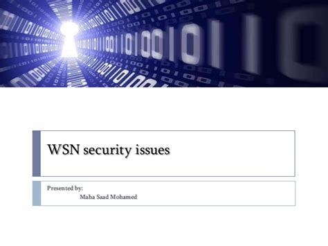 wireless sensor network security issues