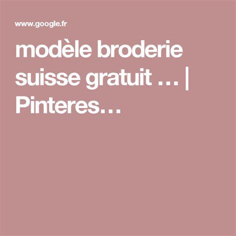 Modele Broderie