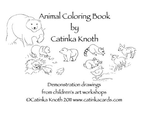 printable animal book animal coloring book from demonstration drawings by