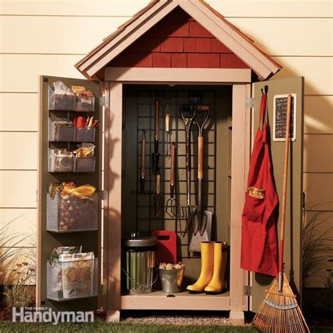 small outdoor storage closet garden closet storage project the family handyman