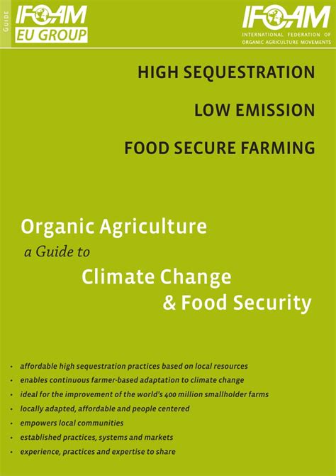 agriculture climate change and food security in the 21st century our daily bread books organic agriculture a guide to climate change and food