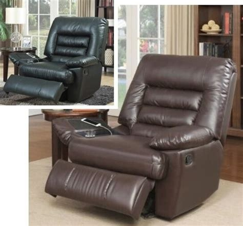 big recliner chair big brown black leather recliners armchair