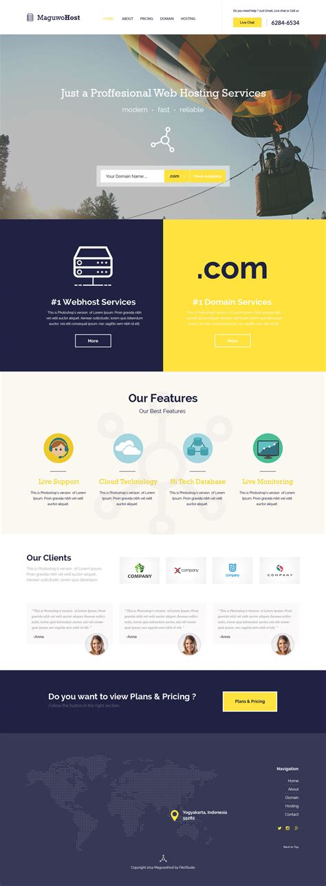 100 free hosting website templates free website