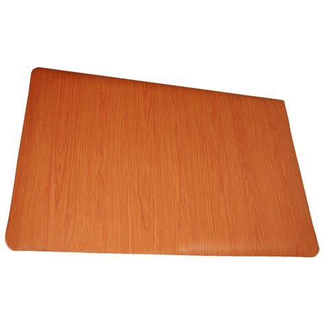 rhino anti fatigue mats soft woods cherry 36 in x 60 in sponge vinyl anti fatigue floor