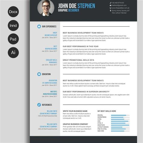 resume format in word free free ms word resume and cv template free design