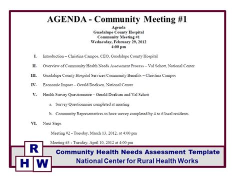 agenda community meeting 1 ppt video online download