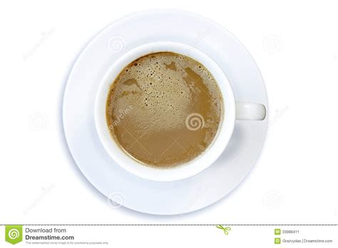 top of coffee cup top view of coffee cup stock image image 33988411