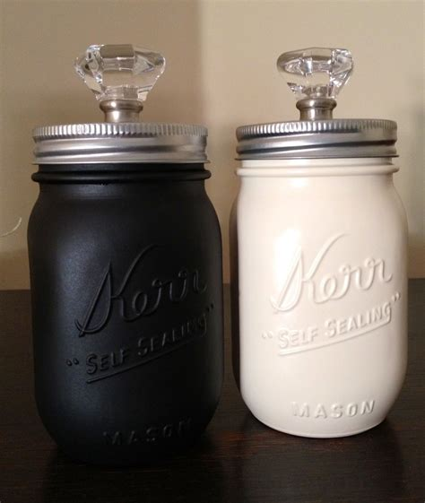 Painting Jars by Spray Painted Jar Canisters Kitchen Ideas