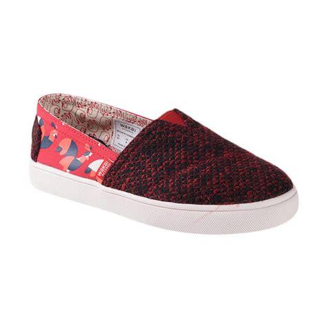 Sepatu Murah Wakai Slip On Wanita Maroon Abu Made In Japan jual wakai wak slw11617 hsgmdrooster sepatu wanita maroon harga kualitas terjamin