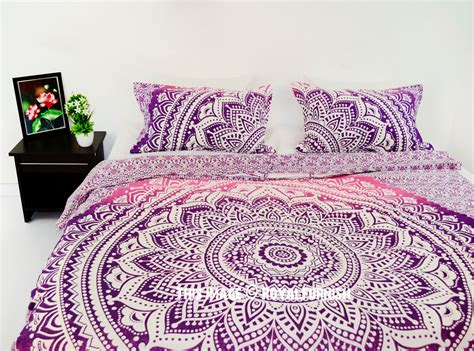 mandala bedding pink multi classic ombre boho mandala bedding duvet cover set with 2 pillow cases