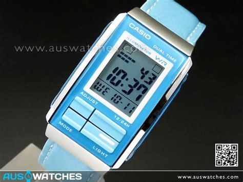 Casio La 201wbl T0210 buy casio futurist blue leather band alarm digital la 201wbl 2a la201wbl buy watches