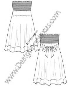 dress sketch template pin fashion sketches template on