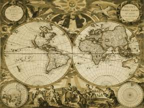 Vintage World Maps by Antique World Map Wallpaper Wallpapersafari
