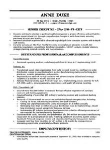 Cfo Resume Template by Workalpha Chief Financial Officer Resume