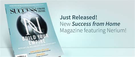 nerium featured in success from home magazine