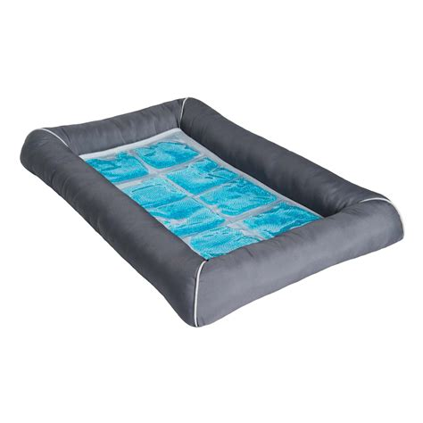 gel beds pet therapeutics grey theracool cooling gel pet bed petco
