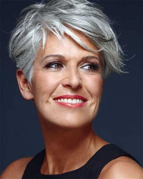 modern gray frame haircut image for short gray hairstyles pinteres