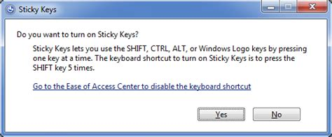 windows vista password reset sticky keys how to disable the sticky keys in windows 8 7 vista