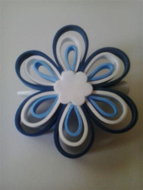 tutorial flores de goma eva foami horquilla pelo azul en goma eva flores en oma eva