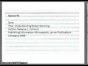Research Paper Notecards How To Write A Note Card For A Research Paper Youtube