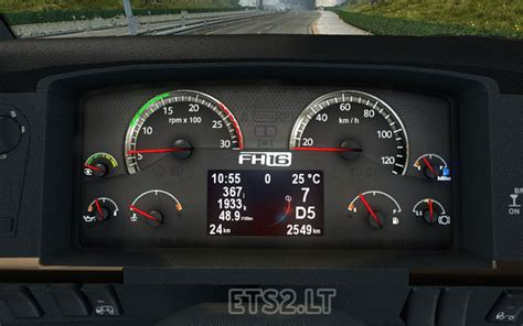 volvo truck dashboard animated new volvo fh classic dashboard ets 2 mods