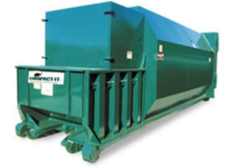 how does a commercial trash compactor work self contained compactors compact it commercial compactors