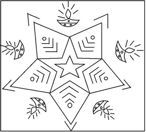easy rangoli coloring pages simple design printable simple rangoli designs coloring