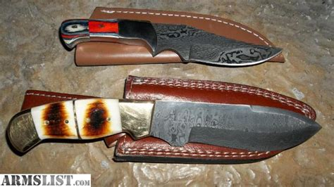 Handmade Bowie Knives For Sale - armslist for sale trade 8 quot handmade damascus