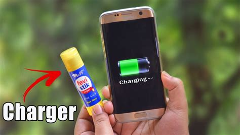 charge your phone charge your phone using glue stick amazing hacks