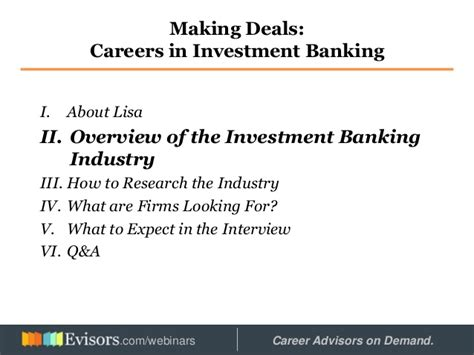 Boutique Investment Banking Mba by Careers In Investment Banking