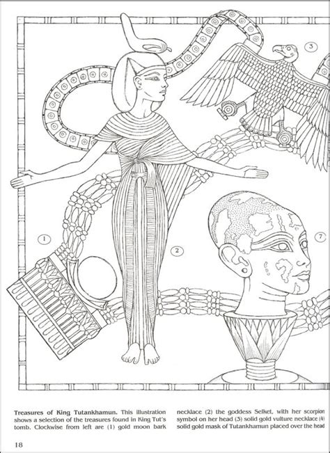 king tut coloring book coloring pages to print egypt