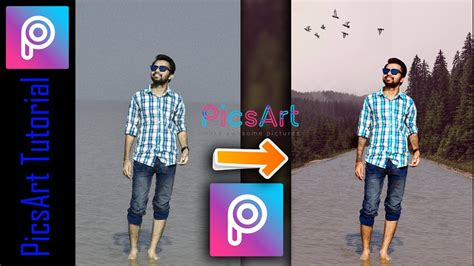 picsart tutorial in mobile walking on water picsart mobile edit 2017 step by
