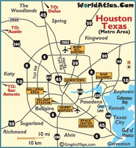 houston area map cities the world s catalog of ideas