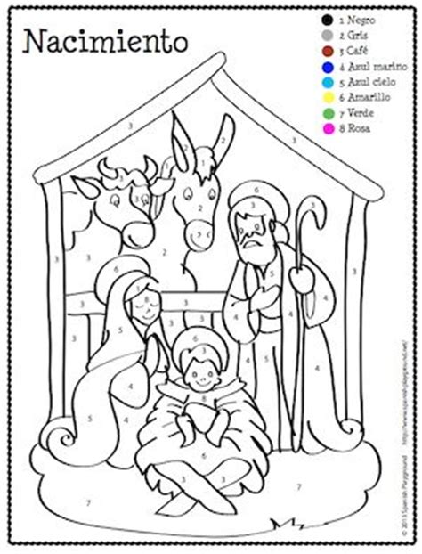 printable christmas coloring pages in spanish spanish christmas color by number coloring songs and