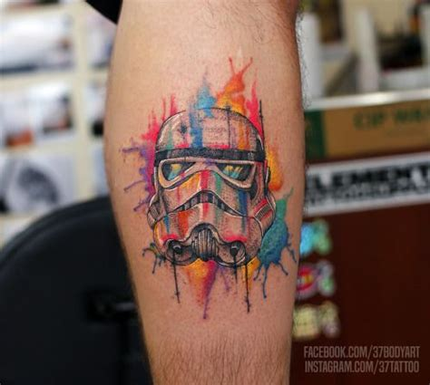 watercolor star tattoo best 20 stormtrooper ideas on