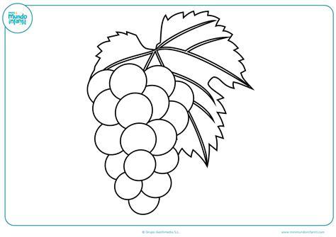 imagenes de uvas en dibujo dibujos de fruta para colorear mundo primaria
