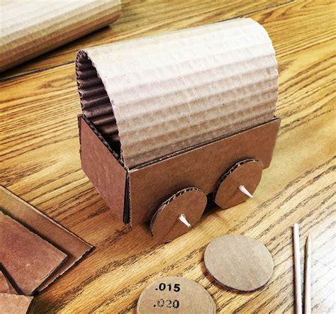 Cardboard Papercraft - gold covered wagon projects for