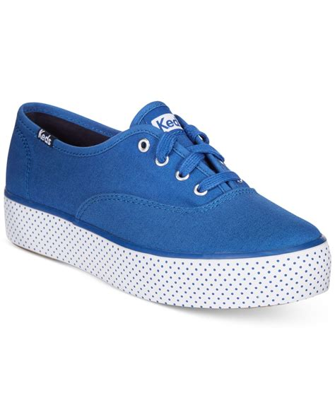 s keds sneakers keds s dot lace up flatform sneakers in blue