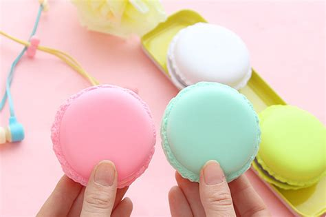 Headset Karakter Macarons 6 macaron shaped colorful earphone macaron headset headphone buy macaron earphone macaron