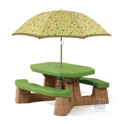 step2 naturally playful picnic table with umbrella naturally playful picnic table with umbrella
