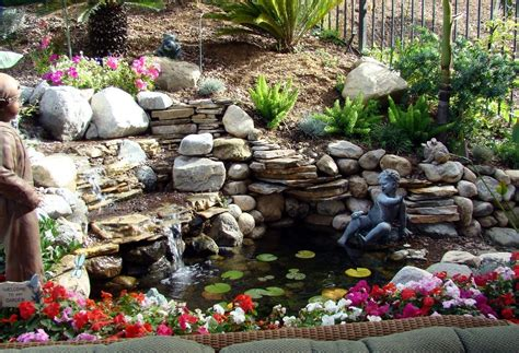 Waterfalls Backyard by Waterfalls Striking Complement To Backyard Layout